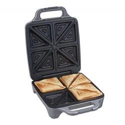 Cloer Sandwich Toaster 4 stk. Trekantform Silver