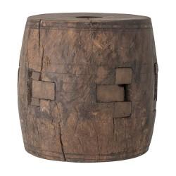 CREATIVE COLLECTION piedestal - brun genbrugstræ og jern