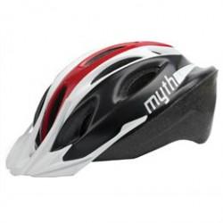 Cykelhjelm til voksne - Sort/hvid/rød