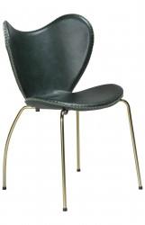 Danform - Butterfly Spisebordsstol - Grøn læder/guld