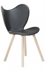 Danform - Butterfly Spisebordsstol - Sort læder/eg