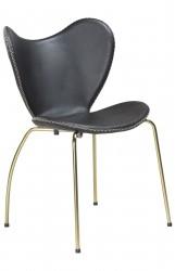 Danform - Butterfly Spisebordsstol - Sort læder/guld