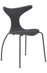 Danform - Dolphin Spisebordsstol - Grå filt/sort