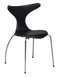Danform - Dolphin Spisebordsstol i sort læder