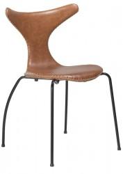 Danform - Dolphin Spisebordsstol - Lysebrun læder