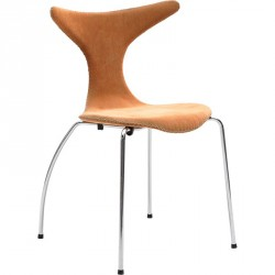 Danform - Dolphin Spisebordsstol - Orange fløjl