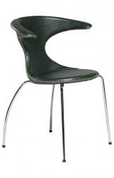 Danform - Flair Spisebordsstol - Grøn læder, krom
