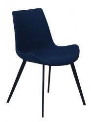 Danform - Hype Spisebordsstol - Midnight blå stof