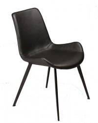 Danform - Hype Spisebordsstol - Vintage sort kunstlæder