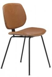 Danform - Prime Spisebordsstol - Lysebrun kunstlæder