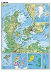 Danmarkskort (lamineret)