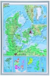 Danmarkskort (sØlv ramme)