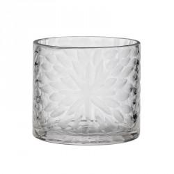 DAY Home Håndskåret Blomster Glasstage Clear
