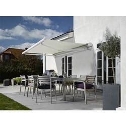 DEBEL Malaga markise hvid/natur 360x300