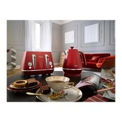 DeLonghi Distinta Flair KBI2001.R - kedel - glamour rød