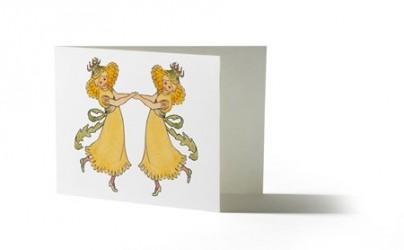 Design House Stockholm Elsa Beskow Kort med kuvert Maskros