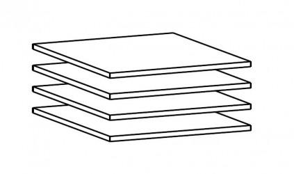 Designa Hylder 4 stk - Hvid