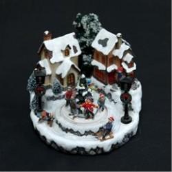 Det Gamle Apotek nisselandskab - Huse med juletræ