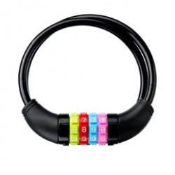 DING spirallås med kode - Sort