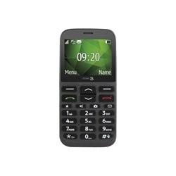 Doro 1372 - Mobiltelefon - microSD slot - GSM - 240 x 320 pixler - TFT - RAM 8 MB - 3 MP - sort