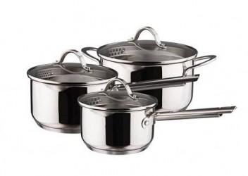 Dorre Kasserollesæt 3 dele kasserolle 1,5 2,0 gryde 3,0 liter
