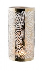 Dorre Lysholder messing med glasrør mønster højde 20 cm