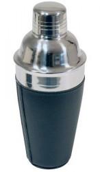 Dorre Shaker rustfri i sort kunstlæder rummer 5.0 dl