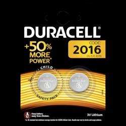 Duracell batteri CR2016 - 2 stk