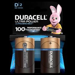 Duracell batteri Ultra Power D (2 stk)