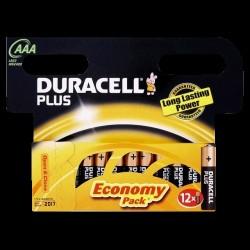 Duracell batterier Plus Power AAA (12 stk.)