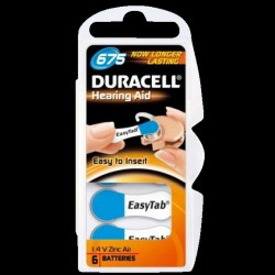 Duracell batterier til høreapparater DA675 - 6 stk