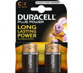 Duracell - Power Plus Batteri C - 2 stk