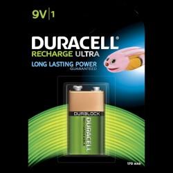 Duracell Recharge Plus 9V 170mAh batteri - 1 stk