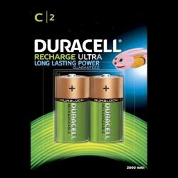 Duracell Recharge Plus C 3000mAh batterier - 2 stk