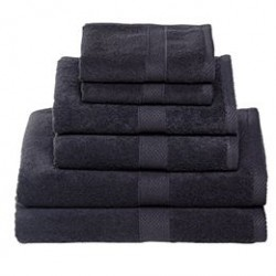 Egeria håndklæder - Diamant, sort
