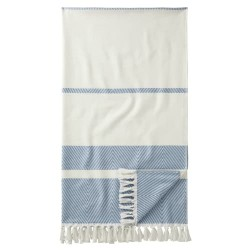 Egeria hamamhåndklæde - Pestemal Lynn - Hvid/blå