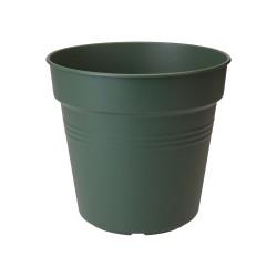 Elho - Green basics urtepotte Ø11-Ø40 cm - Genbrugsplast - Leaf green - Ø27 (Ø19) cm