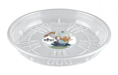 Elho - Transparent underskål Ø14-Ø42 cm - genbrugsplast - Ø16 cm