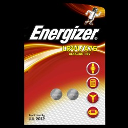 Energizer Button Cell Batteri LR44 2 styk