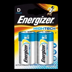 Energizer D/X95 batterier - 2 styk