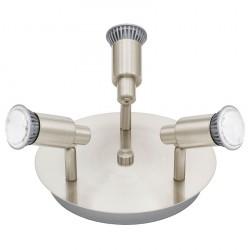 Eridan LED stål Rund loftlampe m. 3 spots
