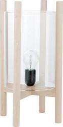 Ernst Kirchsteiger Lampe i træ med glas d23 h39 cm