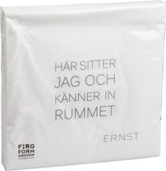 Ernst Kirchsteiger Serviet Tid/Rum, hvid