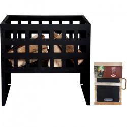 Esschert Design - Rektangel bålfad/brændekurv H50 × B31 × D50