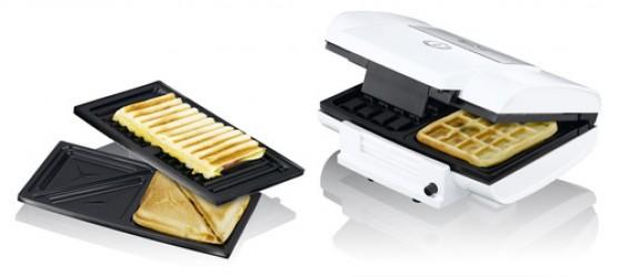 Exido 3 in 1 toaster og vaffel jern