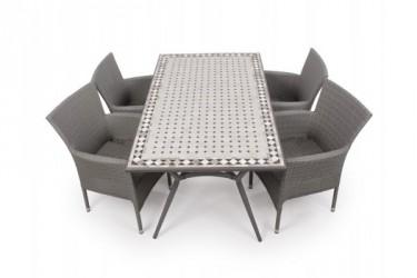 Fanø Cebu Havemøbelsæt - 90x160 cm - Grå