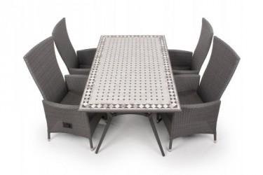 Fanø Paris Havemøbelsæt - 90x160 cm - Grå