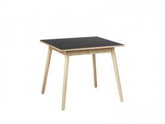 FDB Møbler - C35A Spisebord 82x82 - Natur/Sort