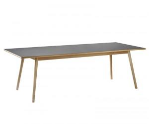 FDB Møbler - C35C Spisebord 220x95 - Sort/Natur