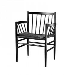 FDB Møbler - J81 Spisebordsstol m/armlæn - Sort